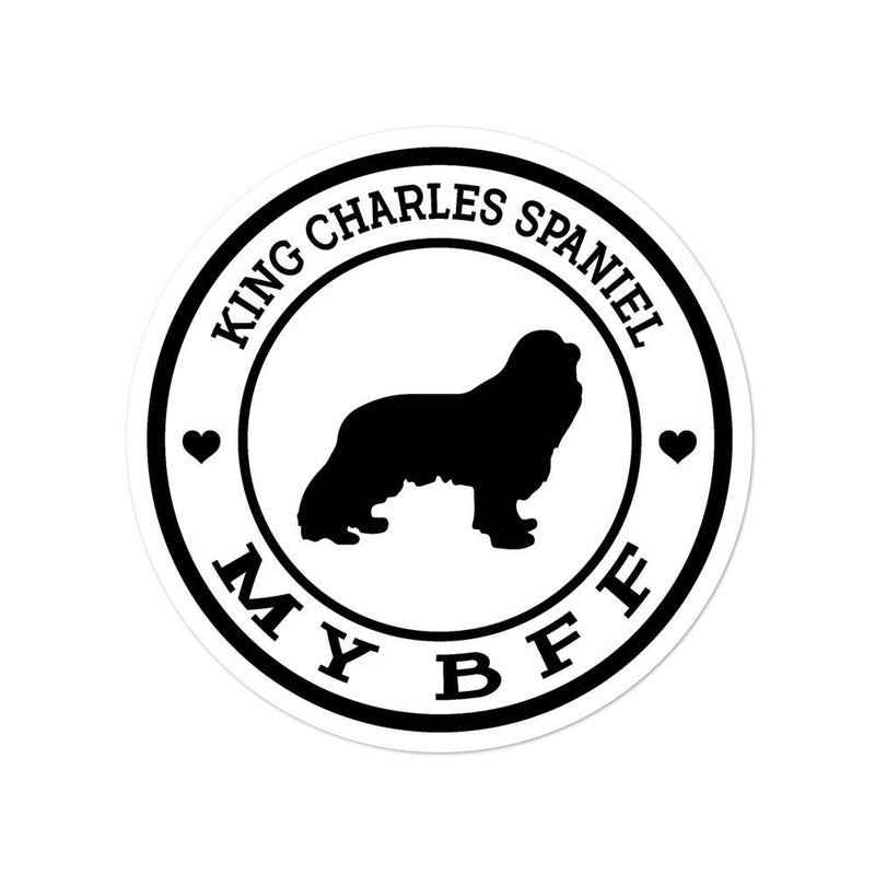 King Charles Spaniel MY BFF Sticker - Decal Sticker World
