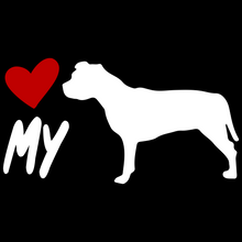 Load image into Gallery viewer, Love My Pitbull Custom Car Window Vinyl Decal Pit Bull Love - FN Decals