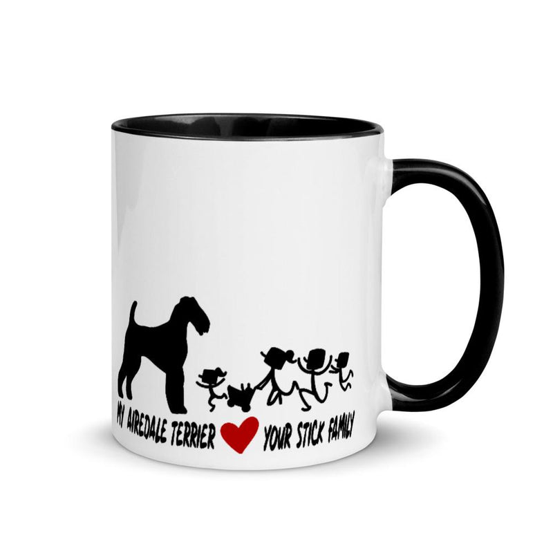 Airedale Terrier Love Your Stick Family Mug - Decal Sticker World