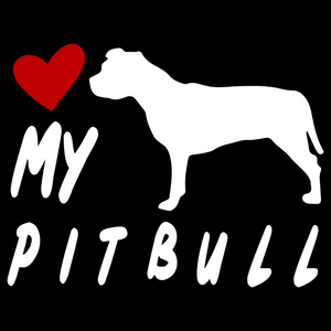 Love My Pit Bull v2 Pitbull - FN Decals