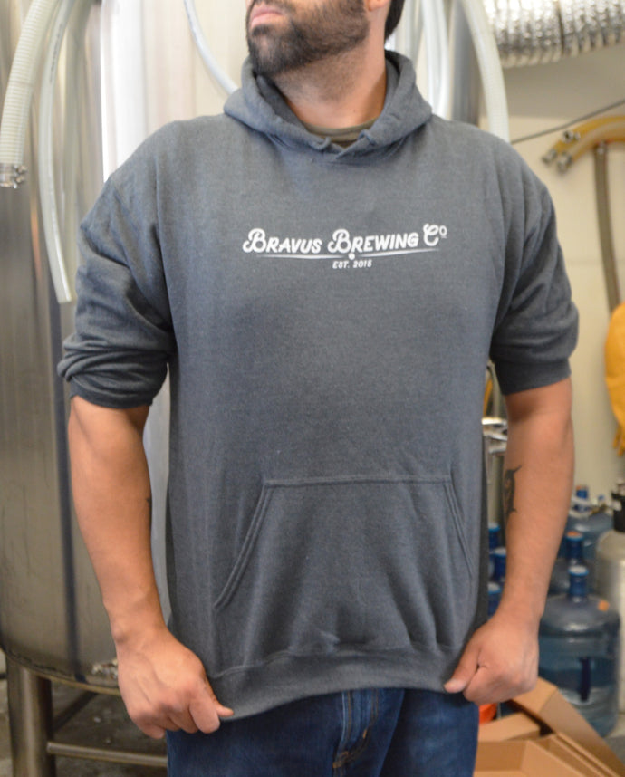 Bravus Hooded Sweatshirt (Dark Gray) - Bravus Brewing Company