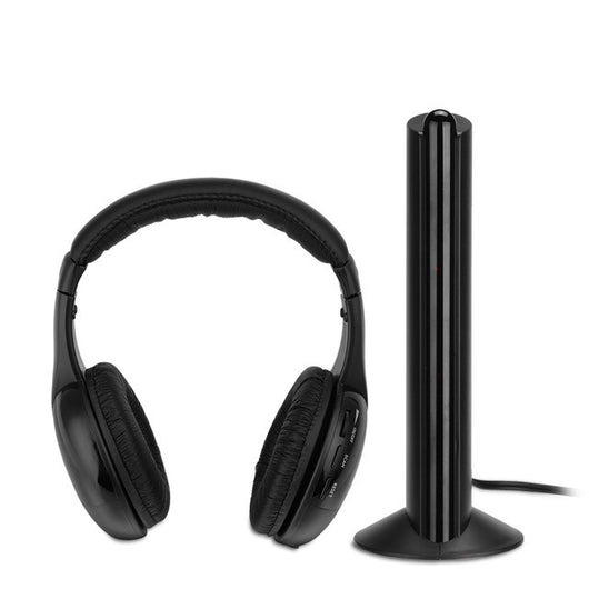 FORNORM 5 in 1 Wireless Cordless Headphone with Emitter For PC TV Radio Wireless Headphone Gaming Headphone Wireless online chat,  - IncTablet Electronics