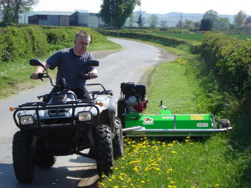 MOTOFOX 13HP Professional Self-Propelled ATV-Towed Flail Mower