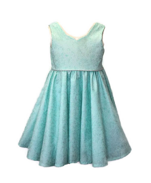 Special occasion dress - Sea foam glitter
