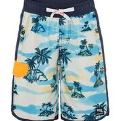 Boys slim boardshort - Retro Hawaii