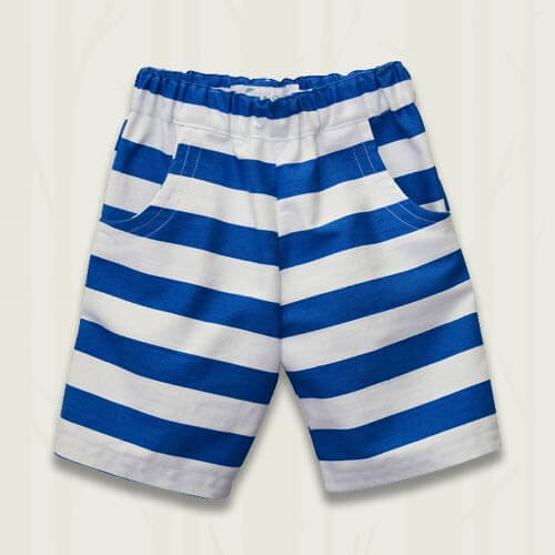Striped shorts - Blue