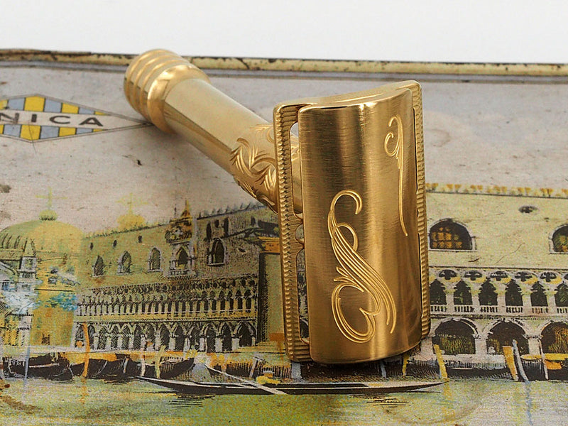 Brass Safety Razor - Victorian