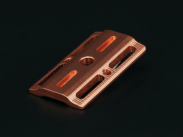 Copper Safety Razor Baseplate (Level-2 Mid Aggressive) - Gen 2