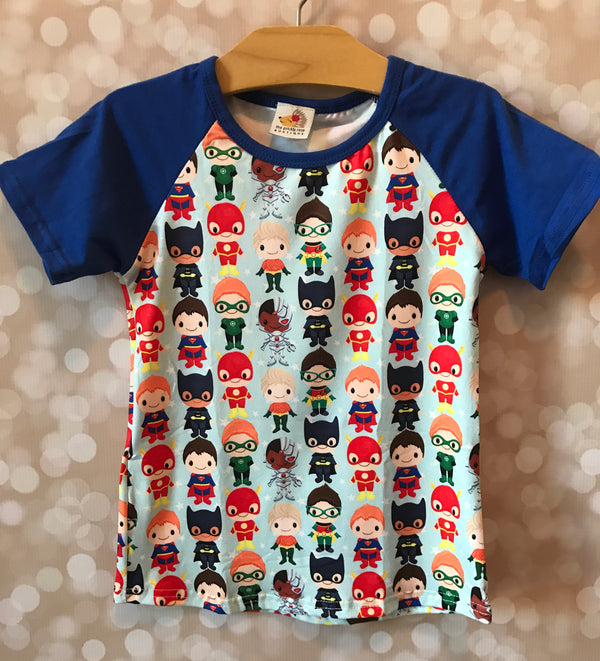Super Hero Raglan Top