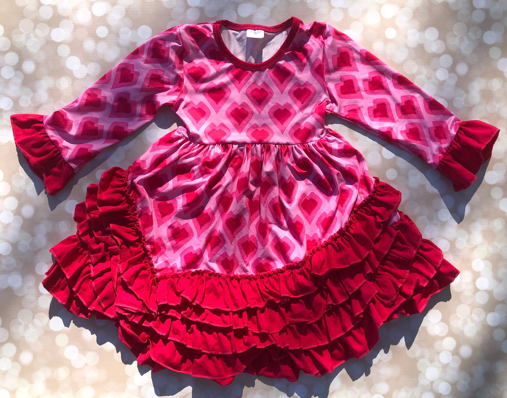 Lots Of Love Ruffle Dress