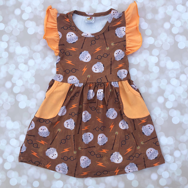 Wizardly Pocket Flutter Dress