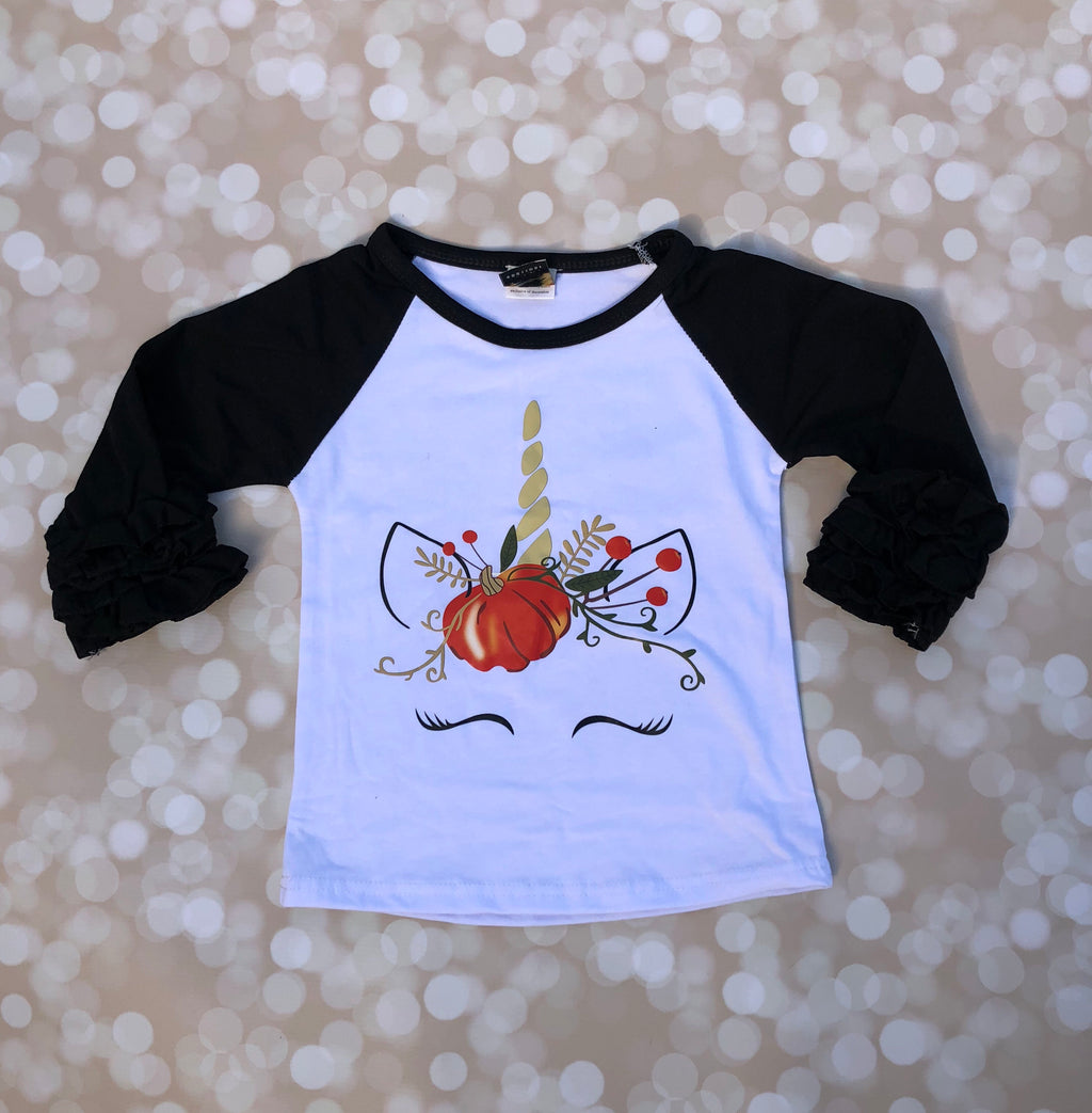 Pumpkin Unicorn Raglan
