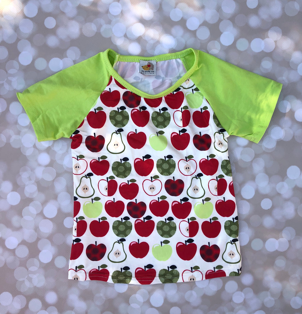 Boys Apple A Day Raglan Shirt