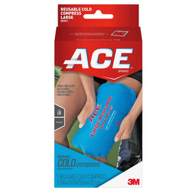 3M ACE Brand Reusable Cold Compress Soft Touch Fabric Large 1 ea