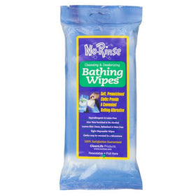 No Rinse Cleansing & Deodorizing Bathing Wipes 8 ea