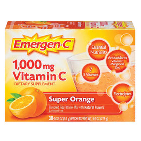 Emergen-C 1000 mg Vitamin C, Super Orange, 30 ea | OTC Shoppe Express