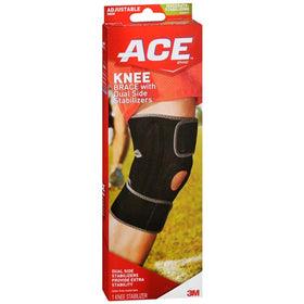 ACE Brand Knee Brace with Dual Side Stabilizers, One Size, 1 ea