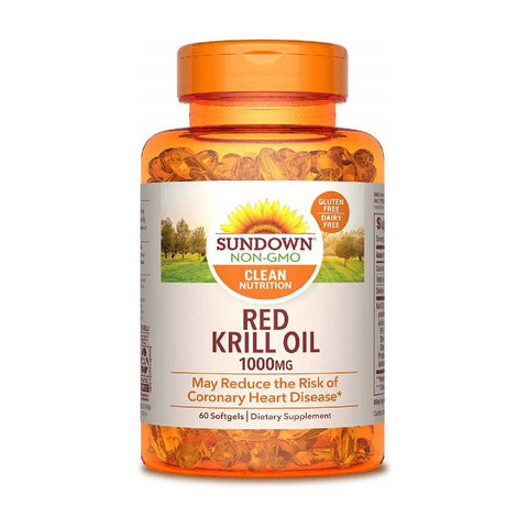 Sundown Naturals Krill Oil 1000 mg Triple Strength, Softgels, 60 ea