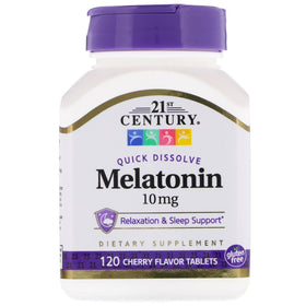 21st Century Melatonin, 10 mg, Tablets, Cherry, 120 ea | OTC Shoppe Express