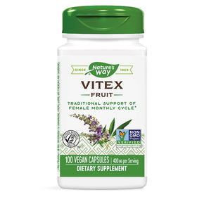 Nature's Way Vitex Fruit, 400 mg, Capsules, 100 ea
