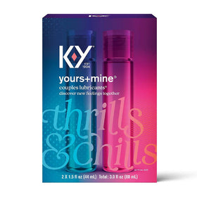 K-Y Yours + Mine Couples Lubricants, 3 oz