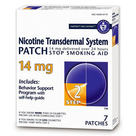 Habitrol Nicotine Transdermal System Patches, 14 mg, Step 2, 7 ea | OTC Shoppe Express