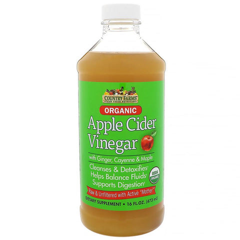 Country Farms Organic Apple Cider Vinegar, Cayenne & Maple, 16 oz | OTC Shoppe Express