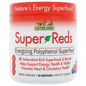 Country Farms Super Reds, Energizing Superfood, Berry Flavor, 7.1 oz | OTC Shoppe Express