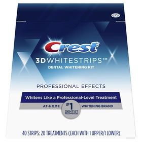 Crest 3D White Luxe Whitestrips, Professional Effects, 20 ea | OTC Shoppe Express
