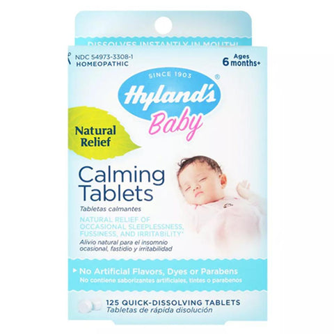 Hyland's Baby Calming Tablets, Natural Relief, Tablets, 125 ea | OTC Shoppe Express