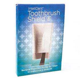 Intellident Antimicrobial Toothbrush Shields, 10 ea | OTC Shoppe Express