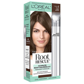 L'Oreal Paris Root Rescue Hair Color, Dark Brown 4, 1 kit | OTC Shoppe Express