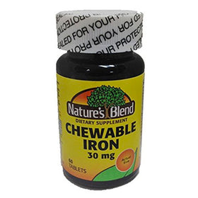 Nature's Blend Chewable Iron, 30 mg, Tablets, 60 ea | OTC Shoppe Express