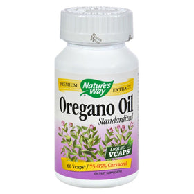 Nature's Way Oregano Oil, Standardized, Liquid VCaps, 60 ea | OTC Shoppe Express