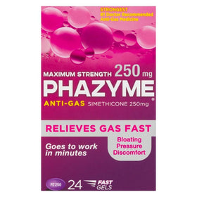 Phazyme Maximum Strength Anti-Gas, 250 mg, Softgels, 24 ea | OTC Shoppe Express