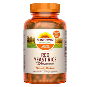 Sundown Naturals Red Yeast Rice, 1200 mg, Capsules, 240 ea | OTC Shoppe Express
