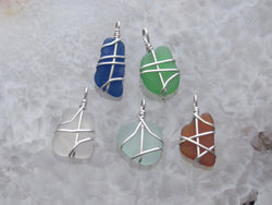 Sea Glass & Sterling Silver Mini Pendant