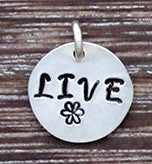 LIVE Charm - Sterling Silver