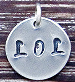 CUSTOM Word Charm / Pendant - Up to 4 Letters & 1 Symbol