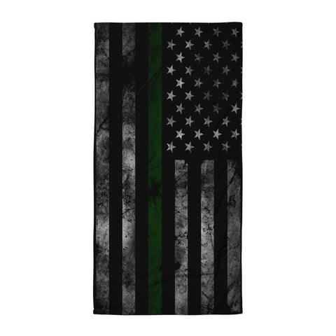 Green Line Flag Beach Blanket