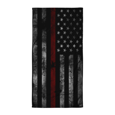 Red Line Flag Beach Blanket