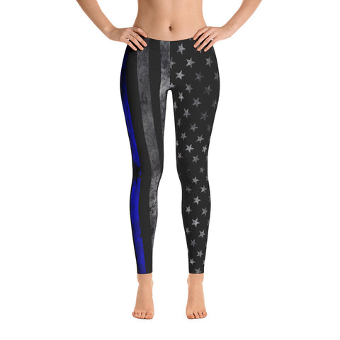 Blue Line Flag Leggings