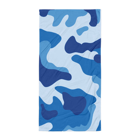 Blue Camo Beach Blanket