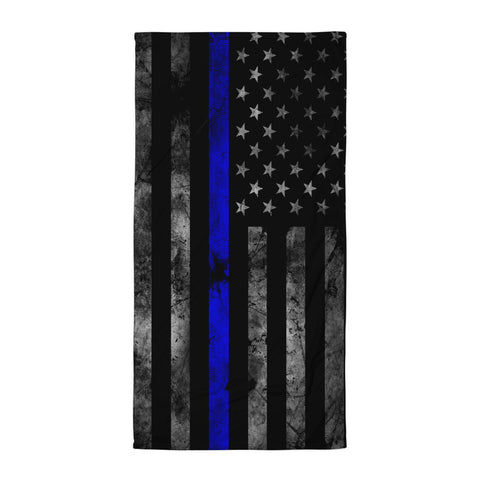 Blue Line Flag Beach Blanket