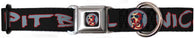 Seat Belt Collar - Black w/Red, White and Blue Lettering