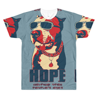 T-shirt - Dye Sublimation - HOPE - Indigo Blue -Mens