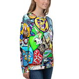 Unisex - All Over Print Sweatshirt - Mural Print