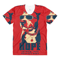 T-shirt - Dye Sublimation - HOPE - Red - Womens - Crew Neck
