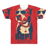 T-shirt - Dye Sublimation - HOPE - Red - Mens