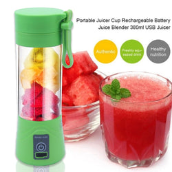 Personal Portable USB Rechargeable Mini Juicer Cup, Travel Juice Extractor Mixer, Smoothie Blender, Juicer Machine, 380ml Water Bottle